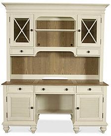 Brompton II Home Office, 2-Pc Furniture Set (Shutter Door Credenza and Credenza Hutch)