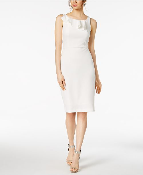 332c26bb30496 Calvin Klein. Ruffled Sheath Dress. 3 reviews. main image ...