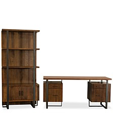 Valencia Home Office, 2-Pc. Set (Double Pedestal Desk & Bookcase)