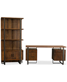 Valencia Home Office, 2-Pc. Furniture Set (Double Pedestal Desk & Bookcase)