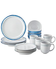 Brushstrokes 16-Pc. Dinnerware Set, Service for 4