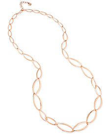 "Robert Lee Morris Soho Interlocking Oval Link Necklace, 35"" + 2"" extender"