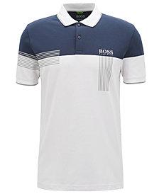 BOSS Men's Regular/Classic-Fit Striped Piqué Polo Shirt