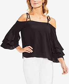 Vince Camuto Off-The-Shoulder Ruffle-Sleeve Top