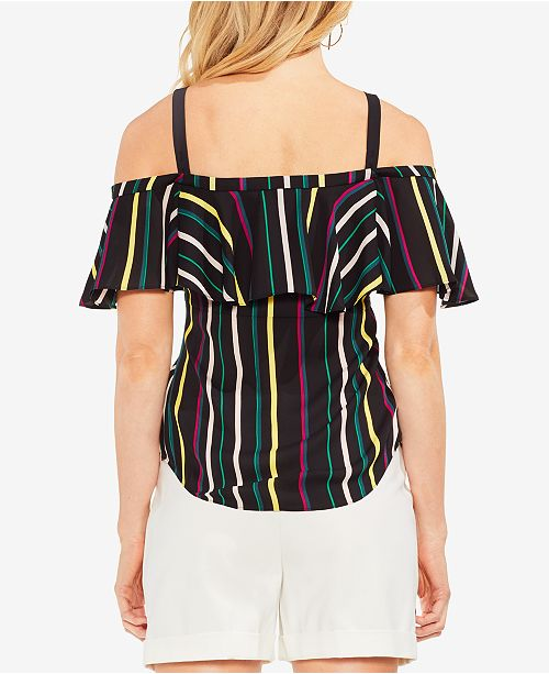 f9cf124a7c841 Vince Camuto Paradise Striped Off-The-Shoulder Top   Reviews - Tops ...