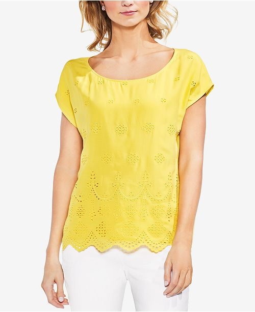 Eyelet Top Scalloped Vince Pineapple Camuto qzEwCPE