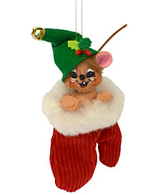 Annalee Jinglebell Mouse in Mitten Ornament