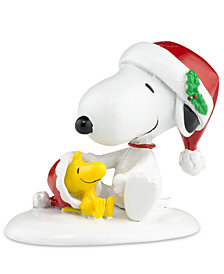 Department 56 Villages Happy Holidays Snoopy & Woodstock