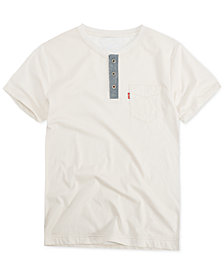 Levi's® Big Boys Pocket Cotton Henley T-Shirt