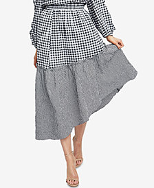 RACHEL Rachel Roy Ava Gingham High-Low Skirt, Created for Macy's