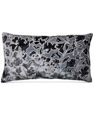 """Misha Handcrafted Burnout Velvet Jacquard 14"""" x 26"""" Decorative Pillow, Created for Macy's"""