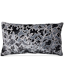 "Lacourte Misha Handcrafted Burnout Velvet Jacquard 14"" x 26"" Decorative Pillow, Created for Macy's"