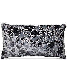 "CLOSEOUT! Lacourte Misha Handcrafted Burnout Velvet Jacquard 14"" x 26"" Decorative Pillow, Created for Macy's"