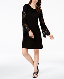 MICHAEL Michael Kors Lace-Sleeve Dress, Regular & Petite