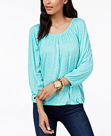 MICHAEL Michael Kors Printed Top, Regular & Petite