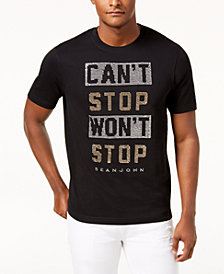 Sean John Men's Can't Stop Won't Stop Graphic-Print T-Shirt