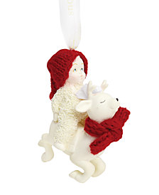Department 56 Snowbabies Reindeer Rides Ornament