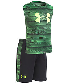Under Armour Little Boys 2-Pc. Logo-Print Tank & Shorts Set