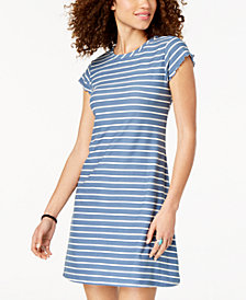 Ultra Flirt Juniors' Striped T-Shirt Dress