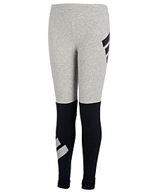 adidas Big Girls Colorblocked Logo Leggings
