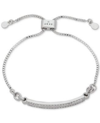 Silver-Tone Pavé Bar Slider Bracelet, Created for Macy's
