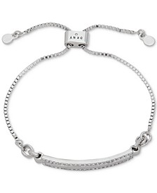Silver-Tone Pavé Bar Slider Bracelet, Created for Macy's