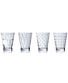 Dressed Up Assorted Clear Tumblers, Set of 4