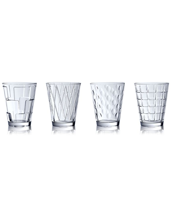 Villeroy & Boch - Dressed Up Assorted Clear Tumblers, Set of 4