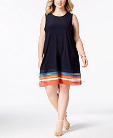 Love Scarlett Plus Size Cutout-Hem A-Line Dress