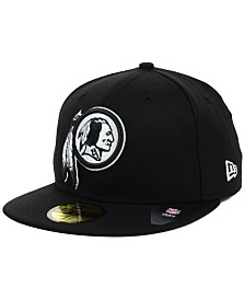 New Era Washington Redskins Black And White 59FIFTY Fitted Cap