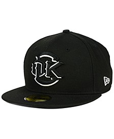 Oklahoma City Redhawks Black and White 59FIFTY Fitted Cap