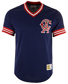 Mitchell & Ness Men's Los Angeles Angels Mesh V-Neck Jersey