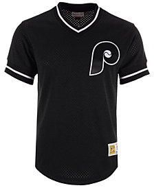 Mitchell & Ness Men's Philadelphia Phillies Mesh V-Neck Jersey