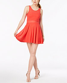 Material Girl Juniors' Illusion Fit & Flare Dress, Created for Macy's