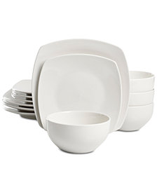 Martha Stewart Essentials Soft Square 12-Pc. Dinnerware Set, Created for Macy's