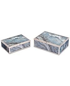 Silver Mundi Boxes, Set Of 2