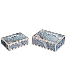 Zuo Mundi Set of 2 Boxes Silver Geode
