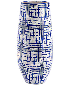 Zuo Rioja Large Vase Blue & White
