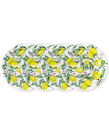 "Q Squared	Limonata 4-Pc. Melamine 8"" Salad Plate Set"