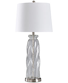 Stylecraft Clear Seeded Table Lamp