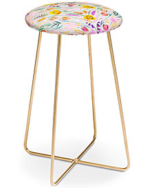 Deny Designs Iveta Abolina Poppy Meadow Counter Stool