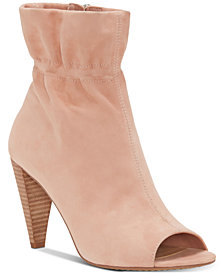 Vince Camuto Addiena Smocked Cone-Heel Booties