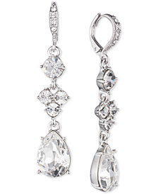 Givenchy Multi-Crystal Drop Earrings
