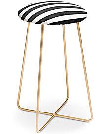 Deny Designs Monika Strigel Farmhouse Shabby Stripes Counter Stool