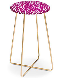 Deny Designs Rachael Taylor Urban Dot Purple Counter Stool