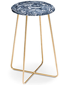 Deny Designs Wagner Campelo Marble Waves Indie Counter Stool