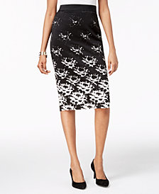 Alfani Printed Scuba Skirt, Created for Macy's