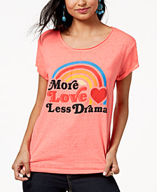 Freeze 24-7 Juniors' More Love Graphic-Print T-Shirt