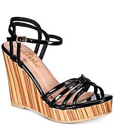 Callisto Brush Strappy Platform Wedge Sandals