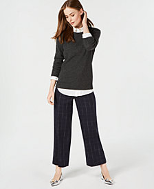 Charter Club Pure Cashmere Solid Crewneck Sweater, Created for Macy's